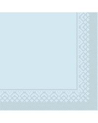 Servet Tissue 3 laags Lichtblauw 40x40cm 1/4 vouw bestellen