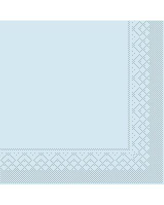 Servet Tissue 3 laags 40x40cm 1/4 vouw Uni Lichtblauw