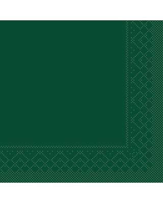 Servet Tissue 3 laags 40x40cm  1/4 vouw Uni Groen