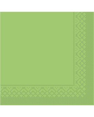 Servet Tissue 3 laags 40x40cm 1/4 vouw Uni Kiwi