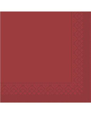Servet Tissue 3 laags 40x40cm 1/4 vouw Uni Bordeaux