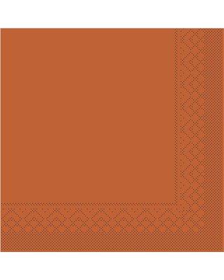 Servet Tissue 3 laags 40x40cm 1/4 vouw Uni Terra