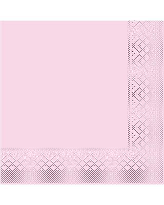 Servet Tissue 3 laags 40x40cm 1/4 vouw Uni Roze