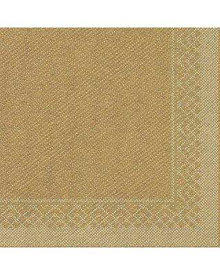 Servet Tissue 3 laags 40x40cm 1/4 vouw Uni Goud