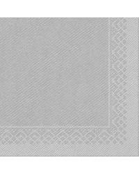 Servet Tissue 3 laags Zilver 40x40cm 1/4 vouw bestellen