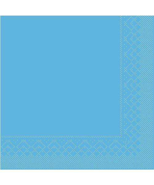 Servet Tissue 3 laags Aqua 33x33cm 1/4 vouw bestellen