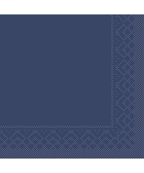 Servet Tissue 3 laags Blauw 33x33cm 1/4 vouw bestellen