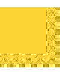 Servet Tissue 3 laags Geel 33x33cm 1/4 vouw bestellen
