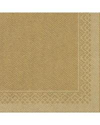 Servet Tissue 3 laags Goud 33x33cm 1/4 vouw bestellen