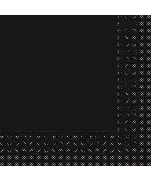 Servet Tissue 3 laags Zwart 25x25cm 1/4 vouw bestellen