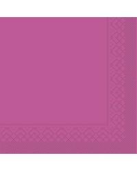 Servet Tissue 3 laags Violet 25x25cm 1/4 vouw bestellen
