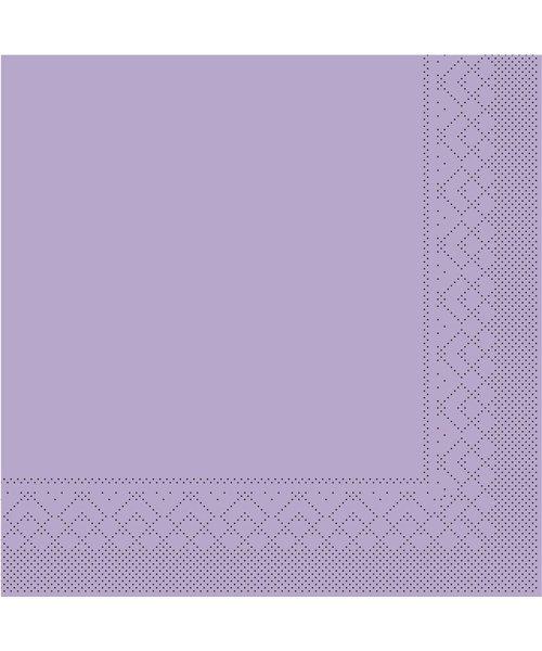Servet Tissue 3 laags Lila 25x25cm 1/4 vouw bestellen