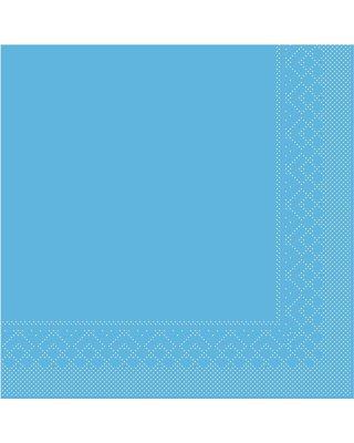 Servet Tissue 3 laags 25x25cm 1/4 vouw Uni Aqua