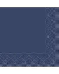 Servet Tissue 3 laags Blauw 25x25cm 1/4 vouw bestellen
