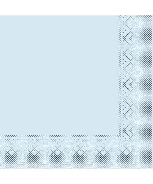 Servet Tissue 3 laags Lichtblauw 25x25cm 1/4 vouw bestellen