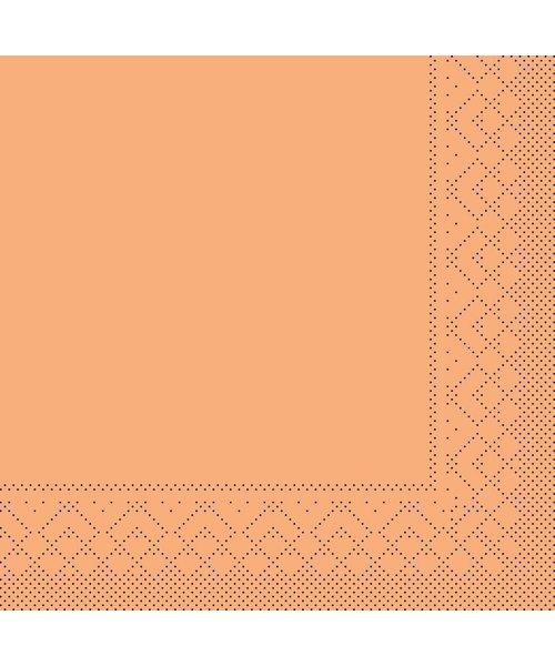 Servet Tissue 3 laags Abrikoos 25x25cm 1/4 vouw bestellen