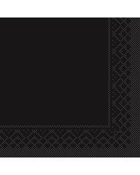 Servet Tissue 3 laags Zwart 33x33cm 1/8 vouw bestellen