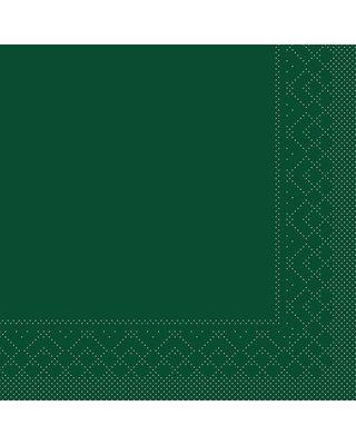 Servet Tissue 3 laags 33x33cm 1/8 vouw Uni Groen