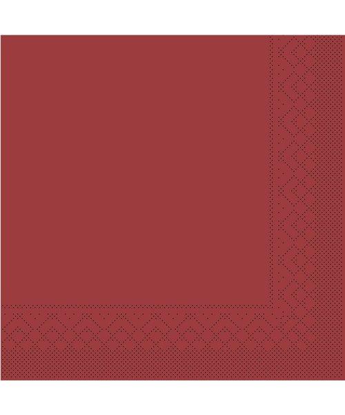 Servet Tissue 3 laags Bordeaux 40x40cm 1/8 vouw  bestellen