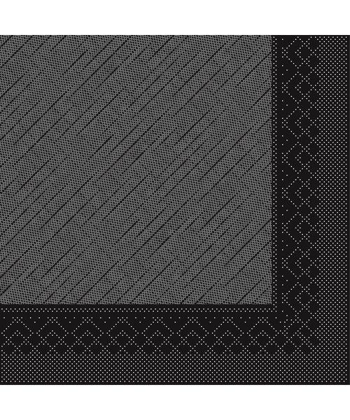 Servet Tissue Deluxe 4 laags Zwart 40x40cm bestellen