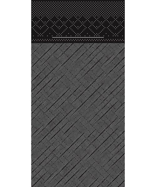 Pocket napkin Tissue Deluxe Zwart 40x40cm 4 Lgs  1/8 vouw bestellen