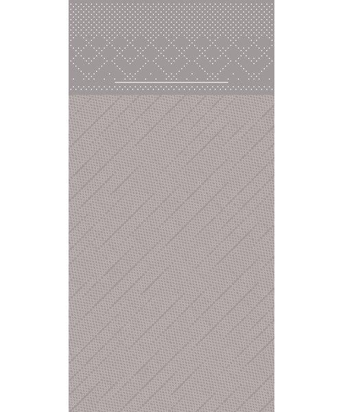 Pocket napkin Tissue Deluxe Grijs 40x40cm 4 Lgs  1/8 vouw bestellen