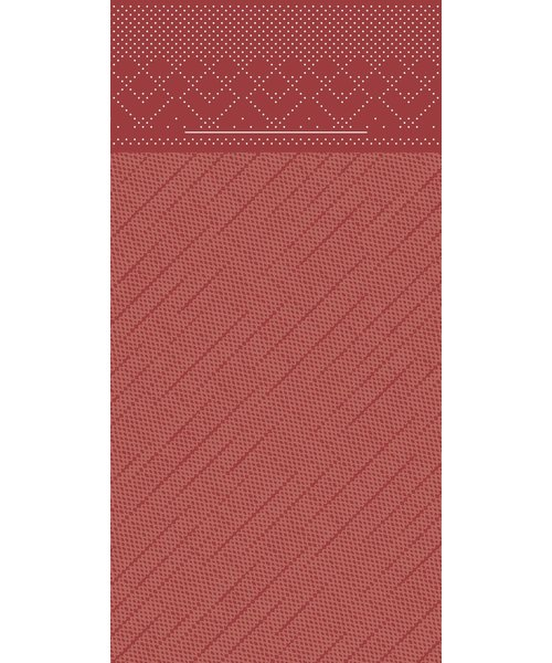 Pocket napkin Tissue Deluxe Bordeaux  40x40cm 4 Lgs  1/8 vouw bestellen