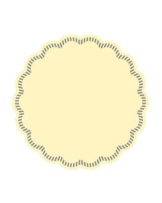 Onderzetters rond Creme 90mm, 9laags