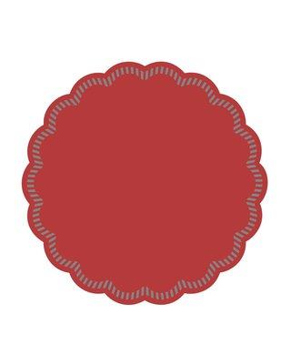 Onderzetters rond Rood 90mm, 9 laags