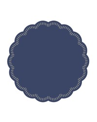 Onderzetters rond Blauw 90mm, 9 laags bestellen