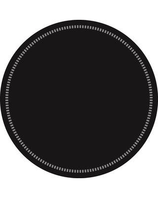 Onderzetters rond Zwart 90mm, 9 laags