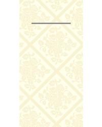 Pocket napkin Airlaid Damast Champagne 40x40cm  65 Gr 1/8 vouw bestellen