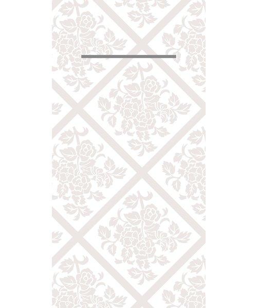 Pocket napkin Airlaid Damast Wit 40x40cm  65 Gr 1/8 vouw bestellen