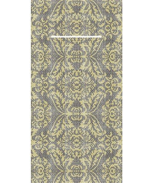 Pocket napkin Airlaid Kiyan Goud/Zwart 40x40cm  65 Gr 1/8 vouw bestellen