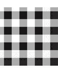 Servet Tissue 3 laags Karo Zwart 25x25cm bestellen