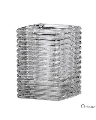 Q-Lights® Square Ribbed Glas