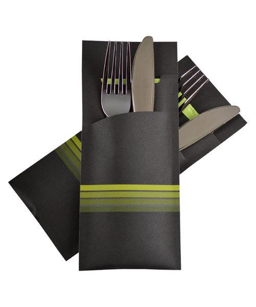 Bestekzakje Stripe Lime POCH 014 bestellen