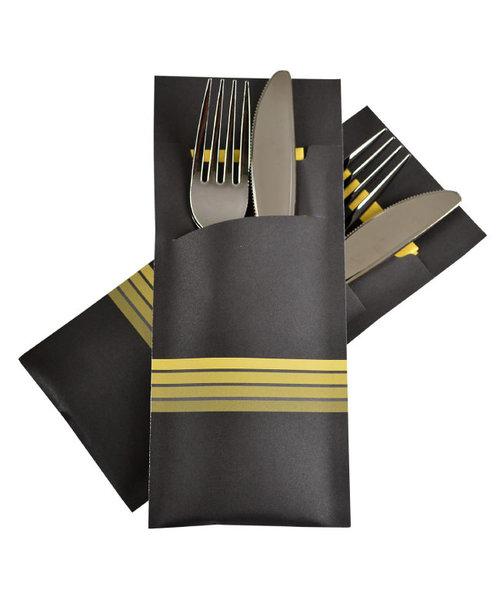 Bestekzakje Stripe Yellow POCH 016 bestellen