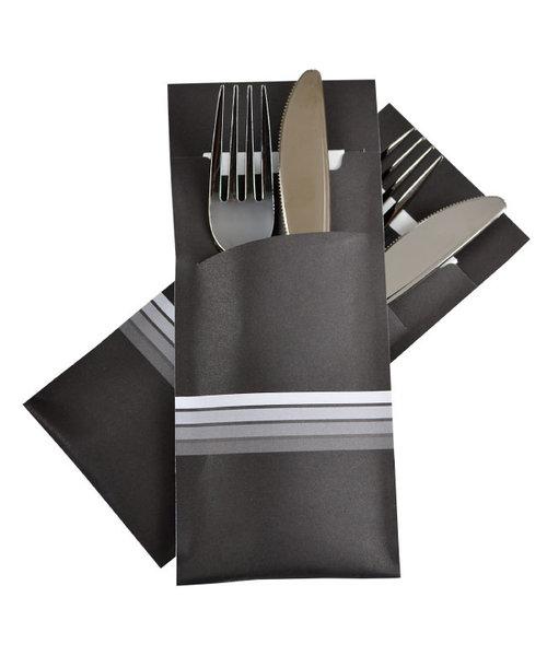 Bestekzakje Stripe White POCH 017 bestellen