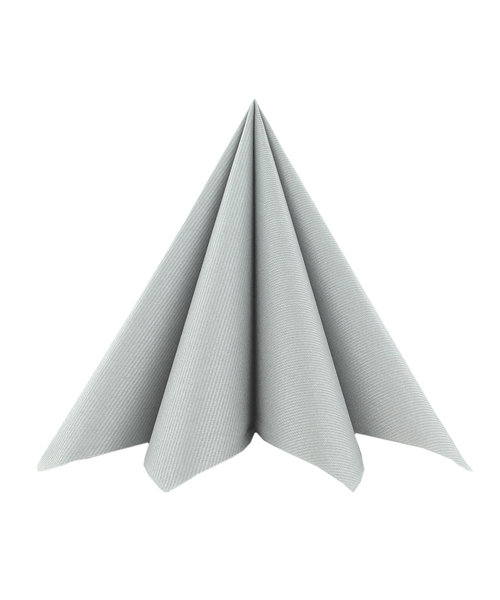 Servet Airlaid Light 24x24cm uni Zilver kopen