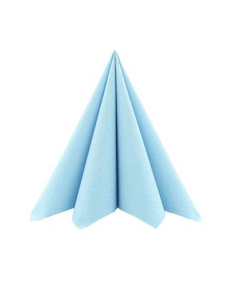 Servet Airlaid 40x40cm uni Lichtblauw