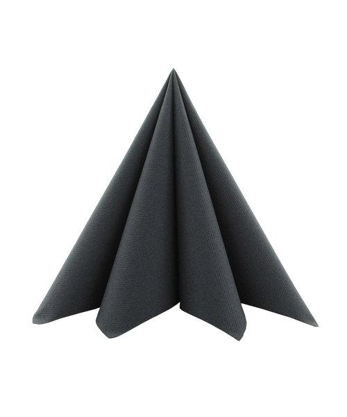 Servet Softpoint 40x40cm Uni Zwart 1/4 vouw kopen
