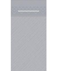 Pocket napkin Tissue Deluxe Light 40x40cm 3 Lgs  1/8 vouw Grijs bestellen