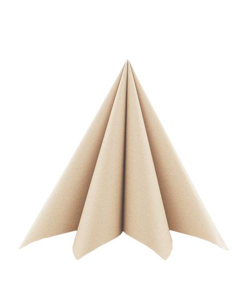 Cocktailservet Softpoint 17x17cm, Recycled Bruin kopen