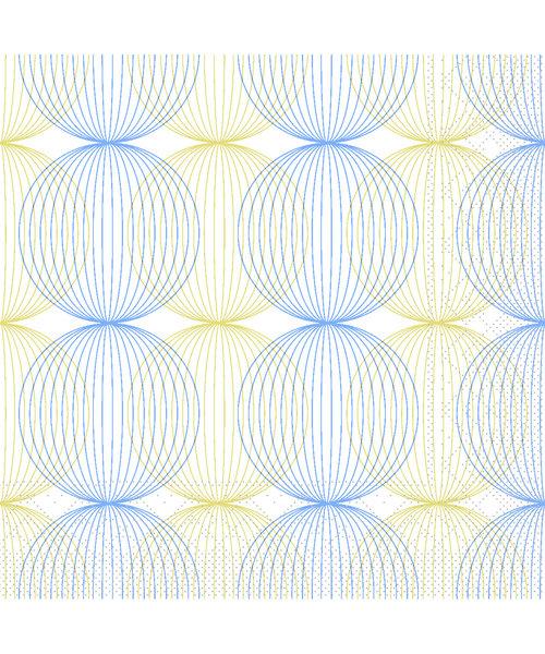 Servet Tissue 3 laags Ludo Blauw/Goud 40x40cm bestellen