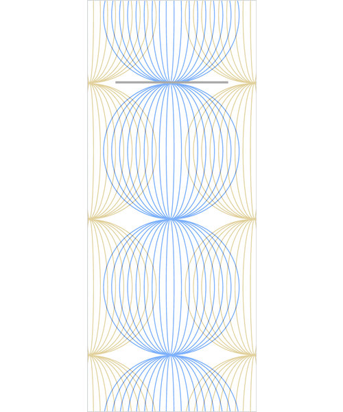 Pocket napkin Airlaid Ludo Blauw/Goud 40x33cm  65 Gr 1/8 vouw bestellen