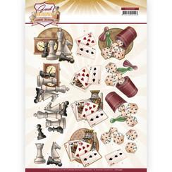 CD11590 - 10 stuks knipvellen - Yvonne Creations - Good Old Days - Games