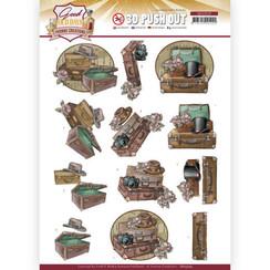 SB10509 - Uitdrukvel - Yvonne Creations - Good Old Days - Suitcase