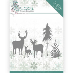 YCD10217 - Mal - Yvonne Creations - Winter Time - Deer in the Forest