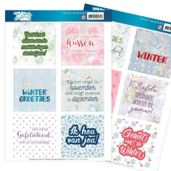 JATD1003 - Text Designs - Jeanines Art- The colours of winter (NL)
